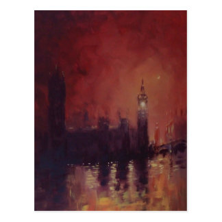 Big Ben en la postal de la noche