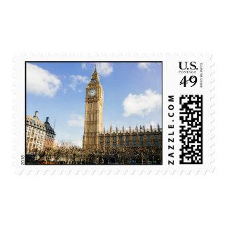 Big Ben en un día soleado, Londres Reino Unido Sellos Postales