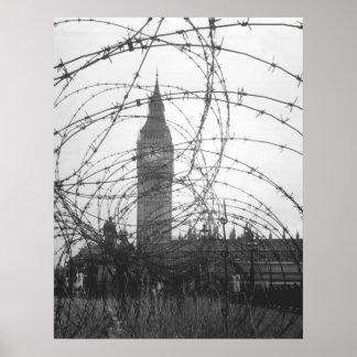 Big Ben en WWII Póster