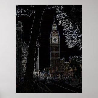 Big Ben Glows Print