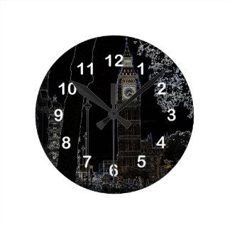 Big Ben Glows Round Clock