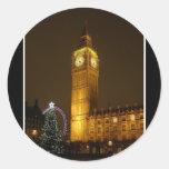 Big Ben hace tictac buenas noches Etiqueta Redonda