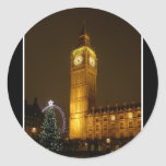 Big Ben hace tictac buenas noches Pegatina Redonda