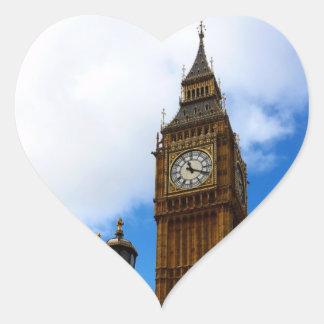 Big Ben Heart Sticker