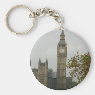 Big Ben House of Commons Basic Round Button Keychain