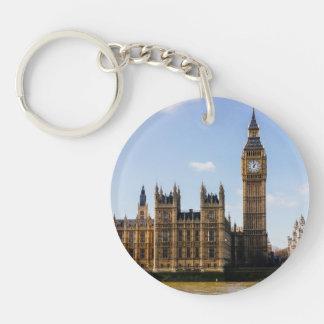 Big Ben, Houses of Parliament, London UK Single-Sided Round Acrylic Keychain