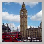 Big Ben impresión de Londres, Inglaterra Póster