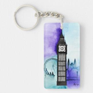 Big Ben in Blues Keychain