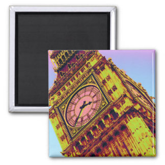 Big Ben in Colour 2 Inch Square Magnet
