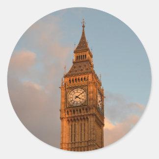 Big Ben in London round sticker
