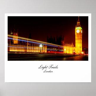 Big Ben light Trails London UK Print