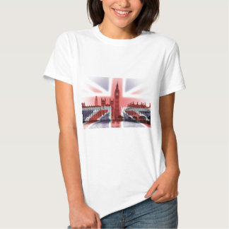 Big Ben London and Union Jack flag Tee Shirt