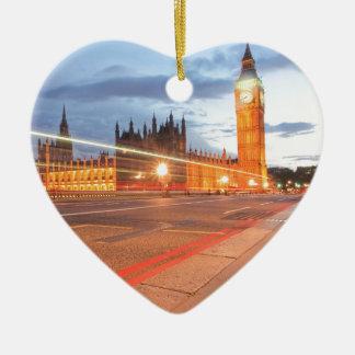 Big Ben London by night Ceramic Ornament