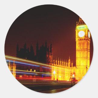 Big Ben, London Classic Round Sticker