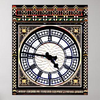 Big Ben London Clock Poster