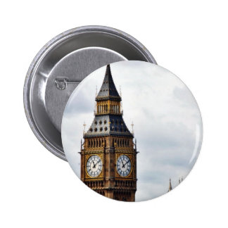 Big Ben London Clock Towers And Westminster Abbey 2 Inch Round Button