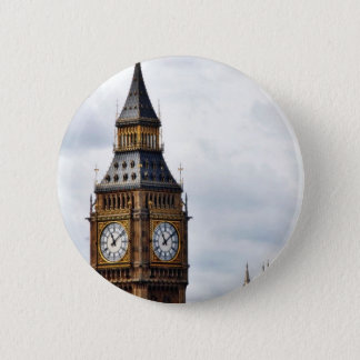 Big Ben London Clock Towers And Westminster Abbey Pinback Button