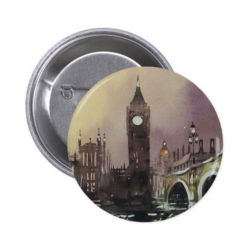 Big Ben London England Button Badge
