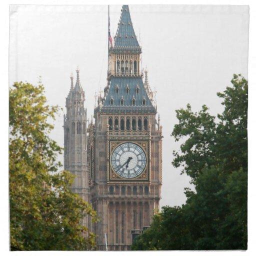 Big Ben London England Printed Napkins