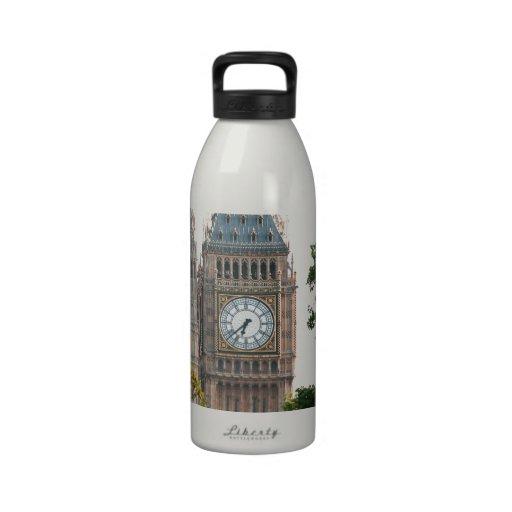 Big Ben London England Water Bottle