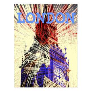 Big Ben London fireworks Postcard