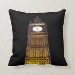 Big Ben, London (poster edge effect) Throw Pillow