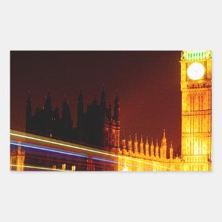 Big Ben, London Rectangular Sticker