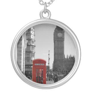 Big Ben London Round Silver Necklace
