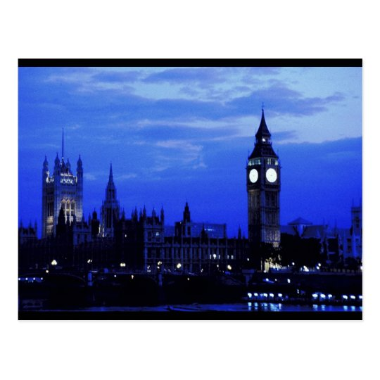 Big Ben London Skyline Postcard