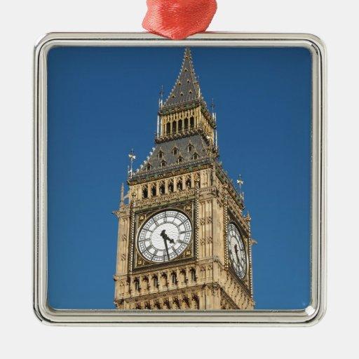 Big Ben London Square Metal Christmas Ornament