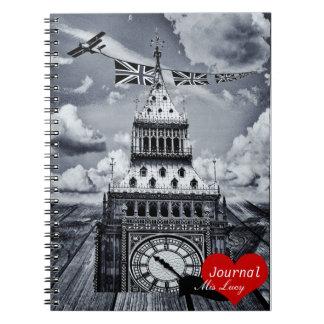 Big Ben, London surreal artwork (Notebook) Spiral Notebook