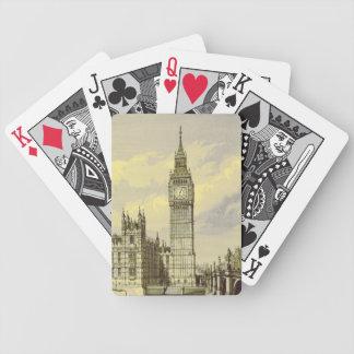 Big Ben London Vintage Engraving Famous Landmark Bicycle Playing Cards