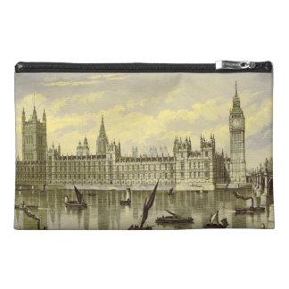 Big Ben London Vintage Engraving Famous Landmark Travel Accessory Bag