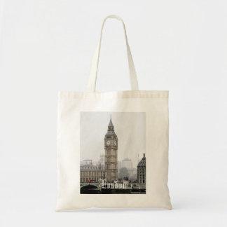 Big Ben London Watercolour Tote Bags