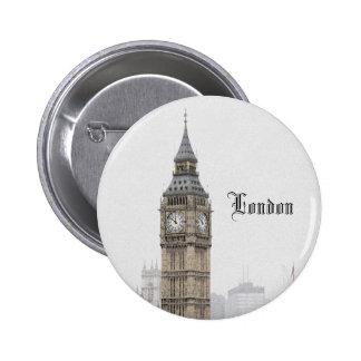 Big Ben London (Watercolour) Button