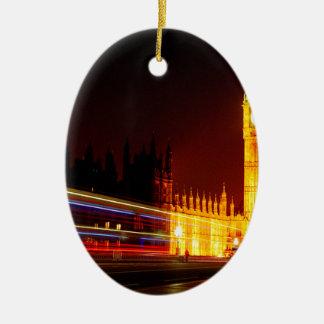 Big Ben, Londres Adorno Navideño Ovalado De Cerámica