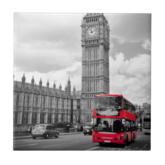 Big Ben Londres Azulejo Cuadrado Pequeño