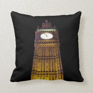 Big Ben, Londres (efecto de borde del poster) Cojín