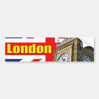 Big Ben - Londres - Inglaterra Etiqueta De Parachoque