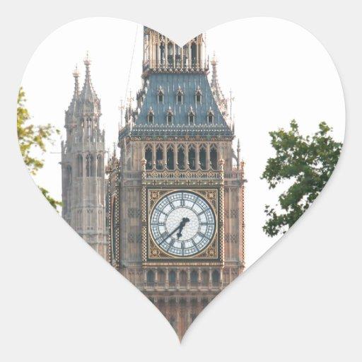 Big Ben Londres Inglaterra Pegatina En Forma De Corazón