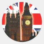 Big Ben, Londres, Inglaterra Pegatina Redonda