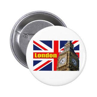 Big Ben - Londres - Inglaterra Pin Redondo 5 Cm