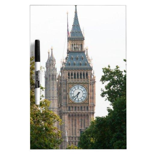 Big Ben Londres Inglaterra Pizarra Blanca