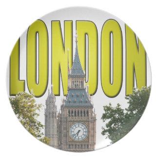 Big Ben Londres Inglaterra Platos Para Fiestas