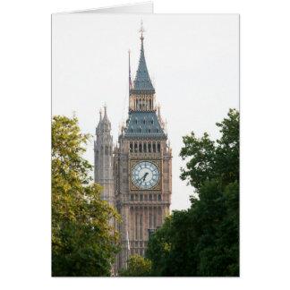 Big Ben Londres Inglaterra Tarjeta De Felicitación