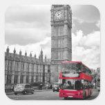 Big Ben Londres Calcomania Cuadradas Personalizadas
