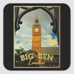 Big Ben Londres Pegatina Cuadradas