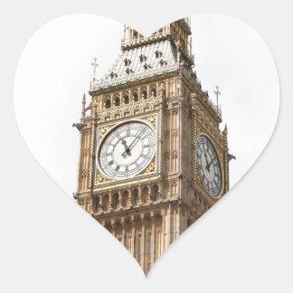 Big Ben Londres Pegatina En Forma De Corazón