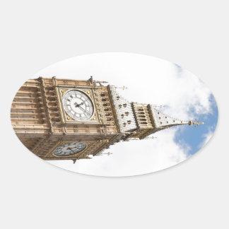 Big Ben Londres Pegatina Ovalada