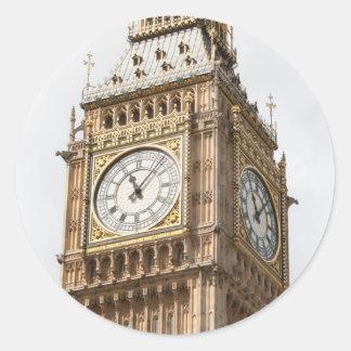 Big Ben Londres Pegatina Redonda